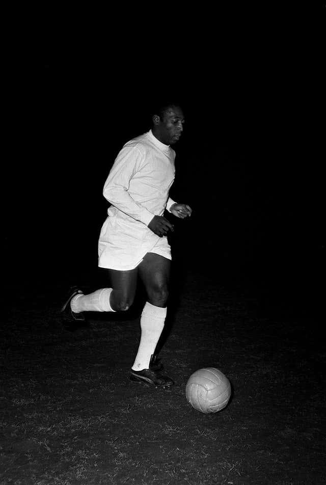 Pele representing Santos