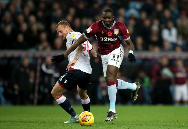 Yannick Bolasie, right, made 21 appearances for Villa