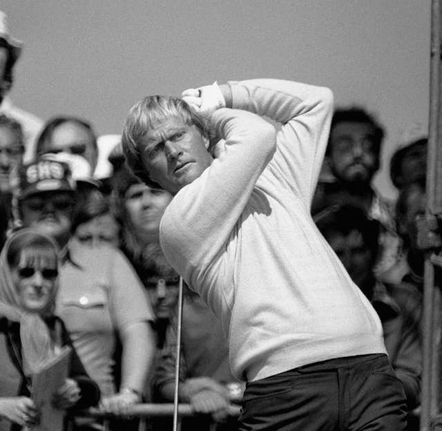 Jack Nicklaus at the 1977 Open