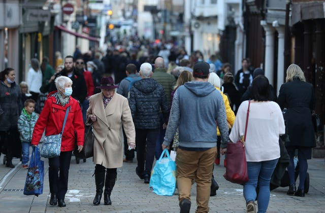 People shopping in Winchester, Hampshire