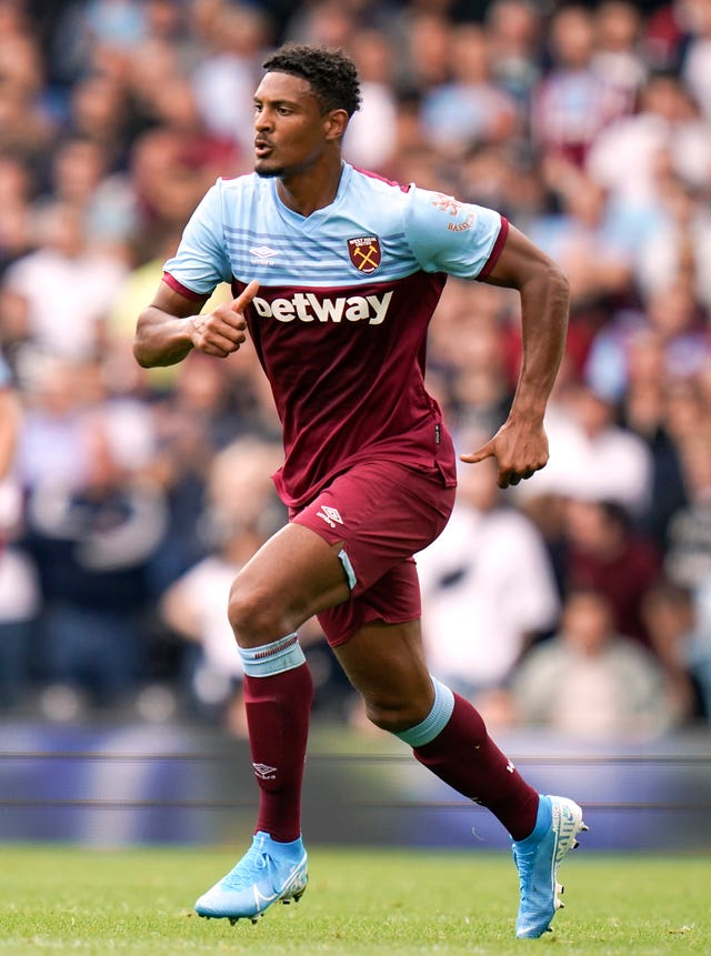 West Ham's Sebastien Haller in action against Fulham