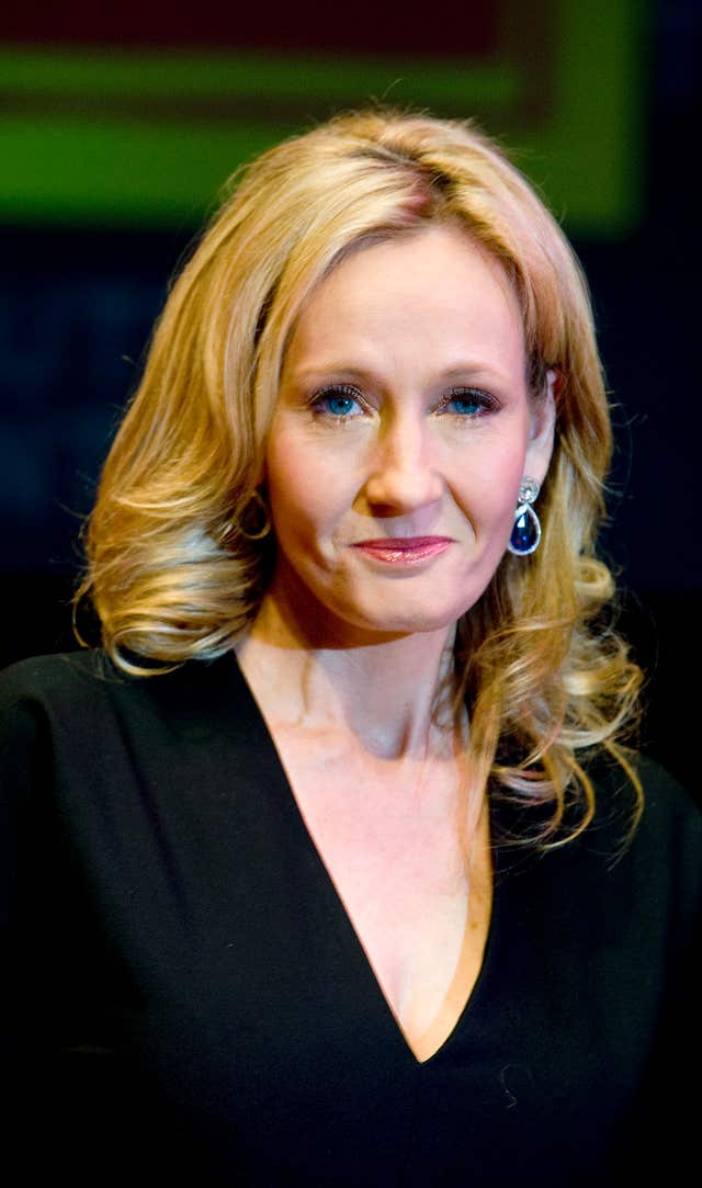 Harry Potter author JK Rowling (Ian West/PA)