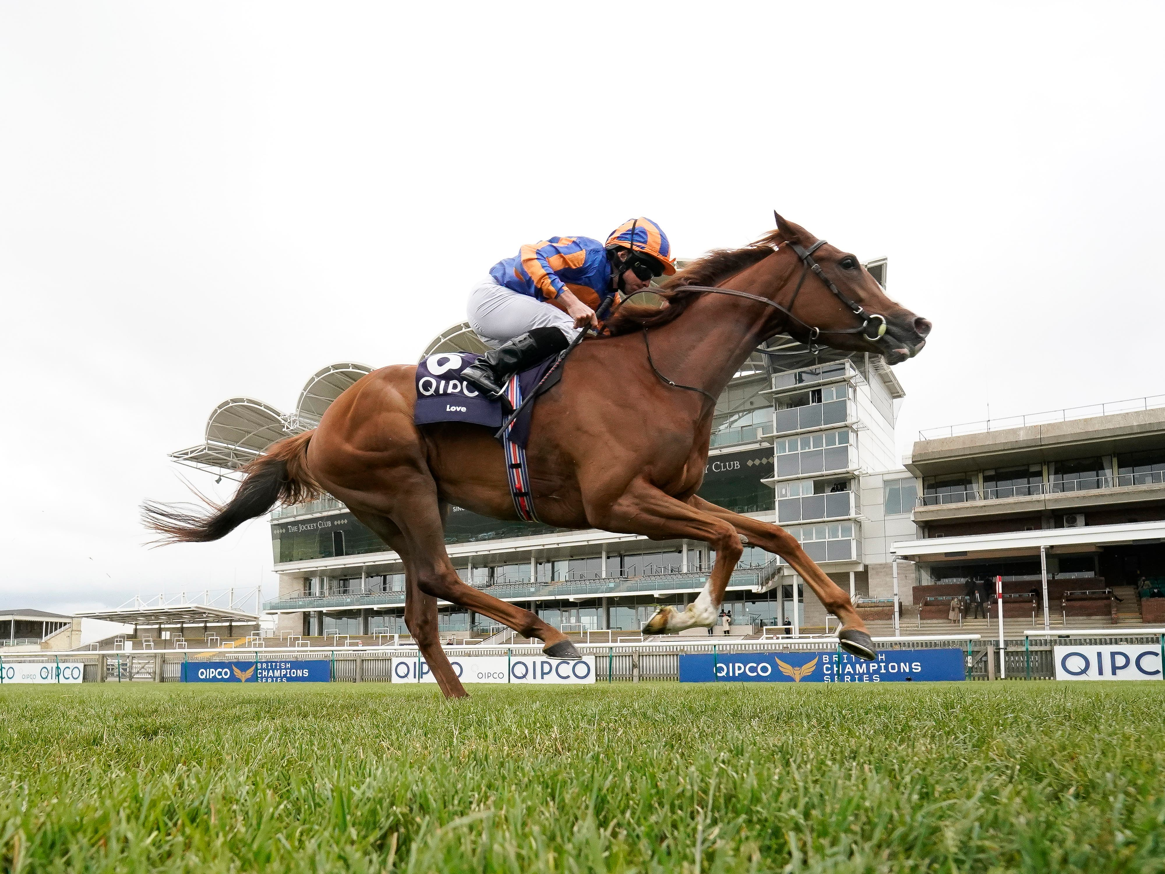 Qipco 1000 Guineas winner Love is among the entries for the Investec Oaks at Epsom on Saturday (Alan Crowhurst/PA)