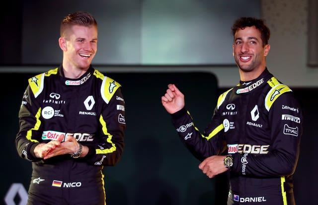 Daniel Ricciardo (right) finished sixth and Nico Hulkenberg (left) 10th