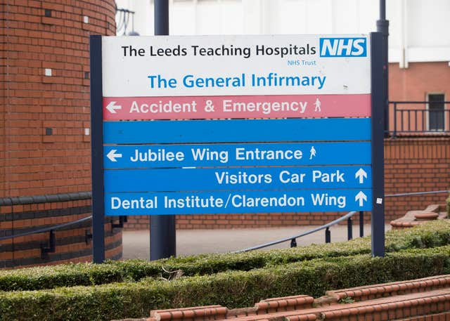 Leeds General Infirmary (Danny Lawson/PA)