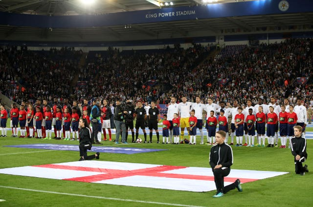 England lined up in Leicester for their latest fixture