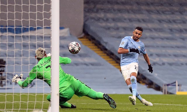 Riyad Mahrez scored both goals on a glorious night for City