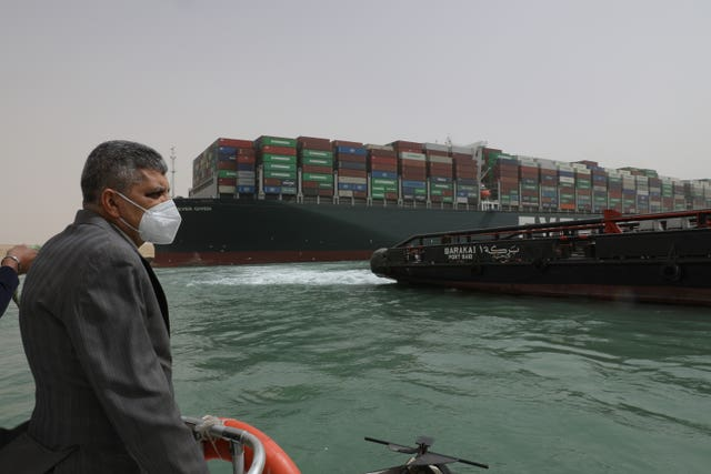 Ever Given cargo ship blocks Suez Canal