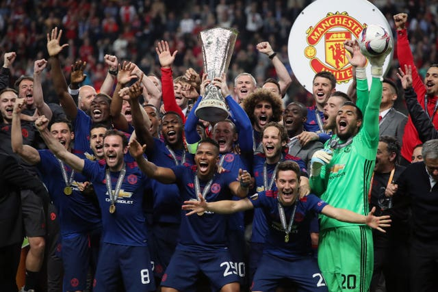 Rooney lifted the Europa League in his last match as a United player in 2017