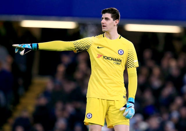 Courtois left Chelsea last week