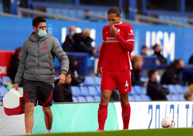 Klopp is not getting his hopes up over Virgil Van Dijk's fitness