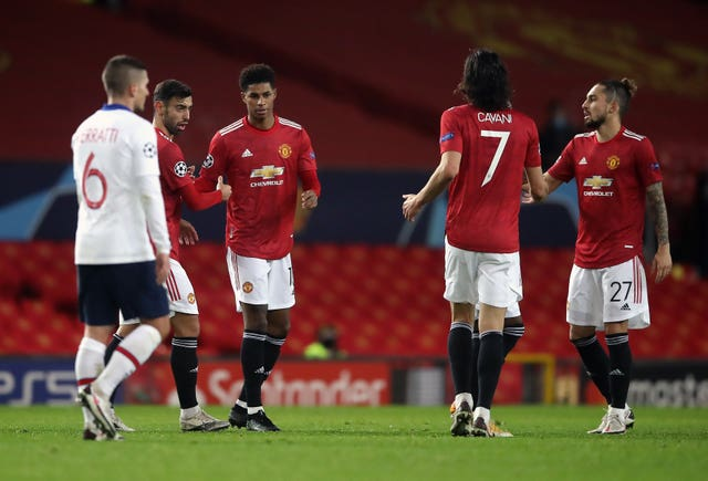 Marcus Rashford scored in Manchester United's 3-1 loss to PSG