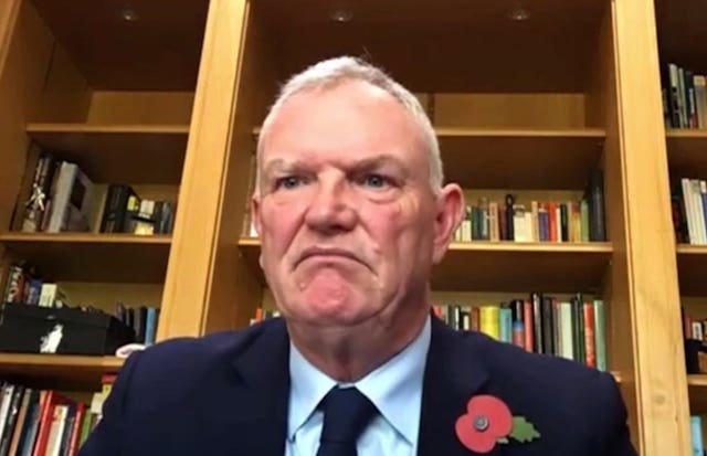 Greg Clarke during his appearance before the DCMS committee last month