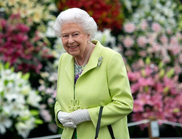 The Queen during her visit to the RHS Chelsea Flower Show