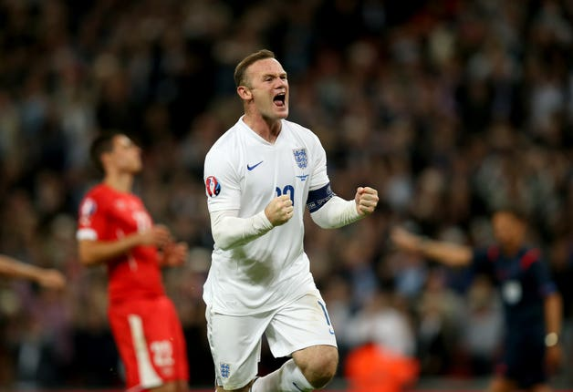 Wayne Rooney scored his 50th international at Wembley to set a new record.