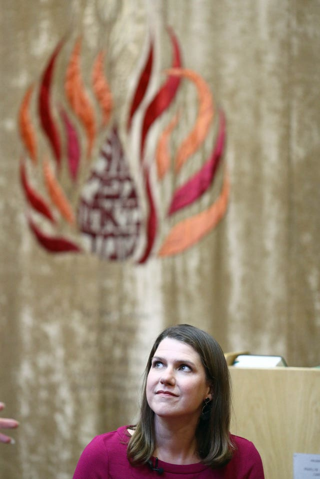 Liberal Democrat leader Jo Swinson at the Cardiff United Synagogue