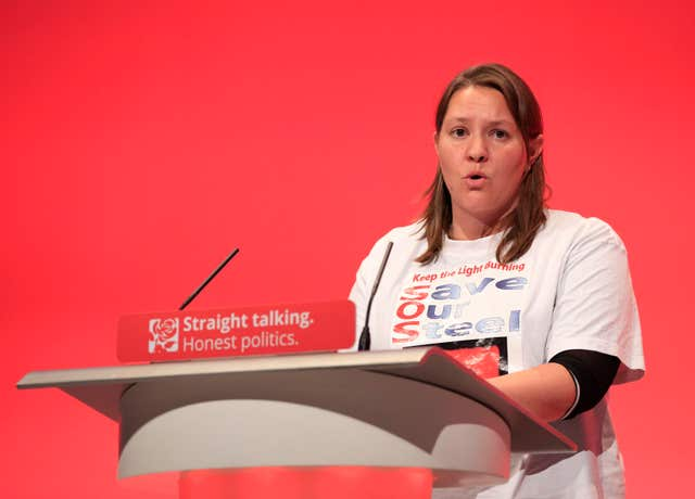 Anna Turley was a member of the Birthday Club group of Labour MPs who opposed Jeremy Corbyn, the court heard (Jonathan Brady/PA)