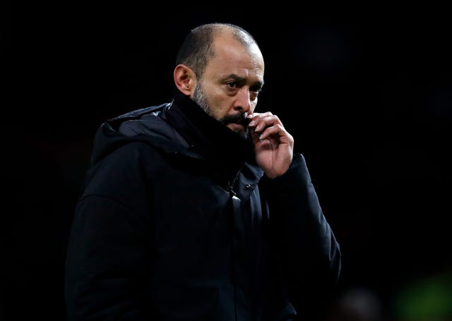 Wolves boss Nuno Espirito Santo was left cursing his side's luck with VAR (Martin Rickett/PA)