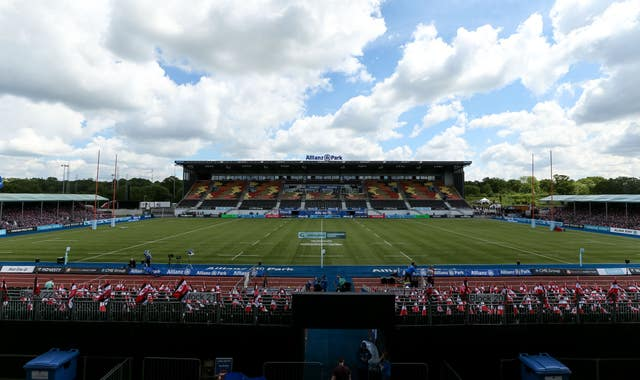 A general view of Allianz Park in London, the home of Saracens