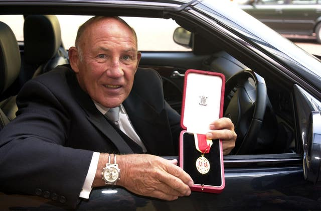 Moss received a knighthood in 2000