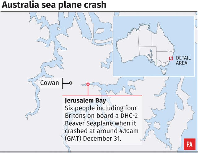 Australia sea plane crash.