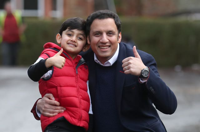 Anas Sarwar with his son