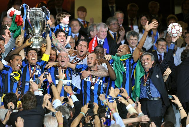 Mourinho heads to Inter Milan where, in his second season, a Champions League final win over Bayern Munich secures the treble