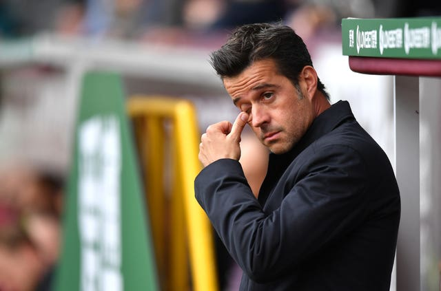 Marco Silva's Everton have lost each of their last four league matches (Anthony Devlin/PA).