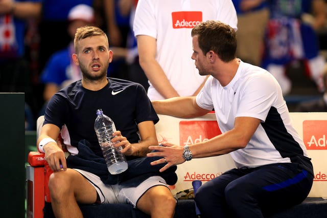 Leon Smith, right, has always believed in Dan Evans' talent