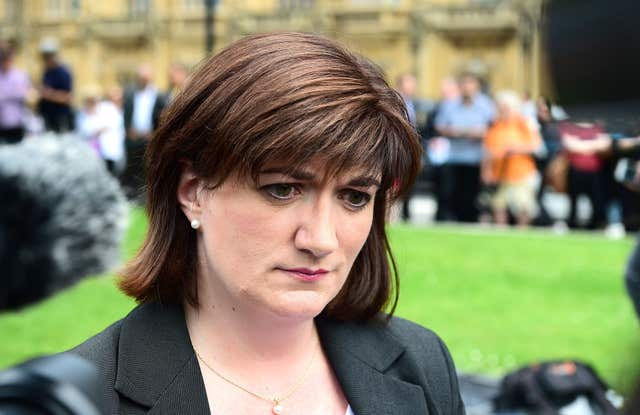 Nicky Morgan (Ian West/PA)