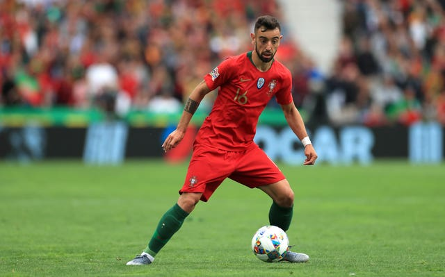 Bruno Fernandes in action for Portugal against Switzerland