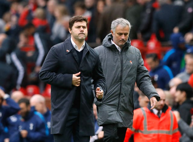 Mauricio Pochettino (left) and Jose Mourinho