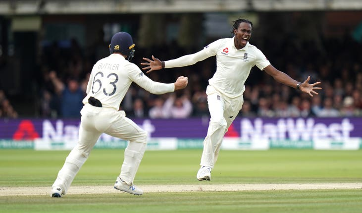 Jofra Archer caused havoc at Lord's on his Test debut