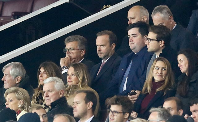 Ed Woodward, centre, has a decision to make over over the next permanent Manchester United manager