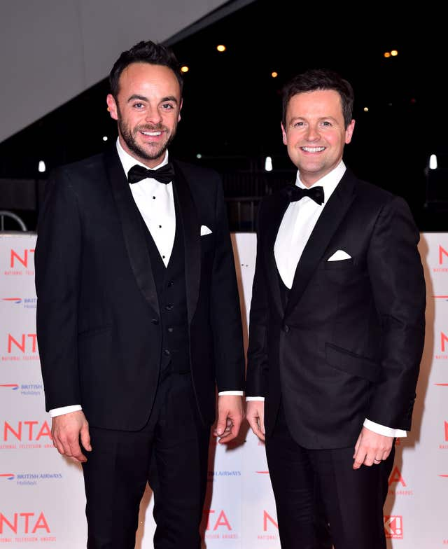 Anthony McPartlin with Declan Donnelly (Matt Crossick/PA)