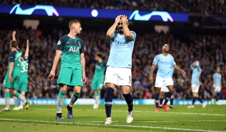 Manchester City's last home Champions League match saw them knocked out of last season's competition by Tottenham