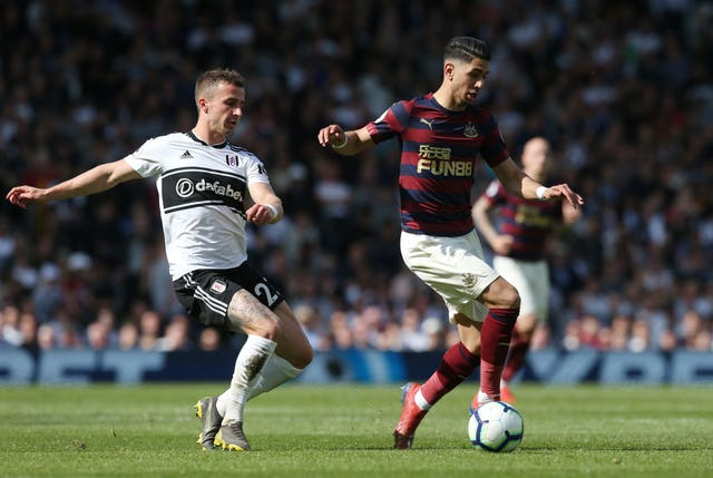 Ayoze Perez, right, put Newcastle ahead at Fulham