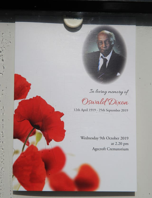 Oswald Dixon funeral