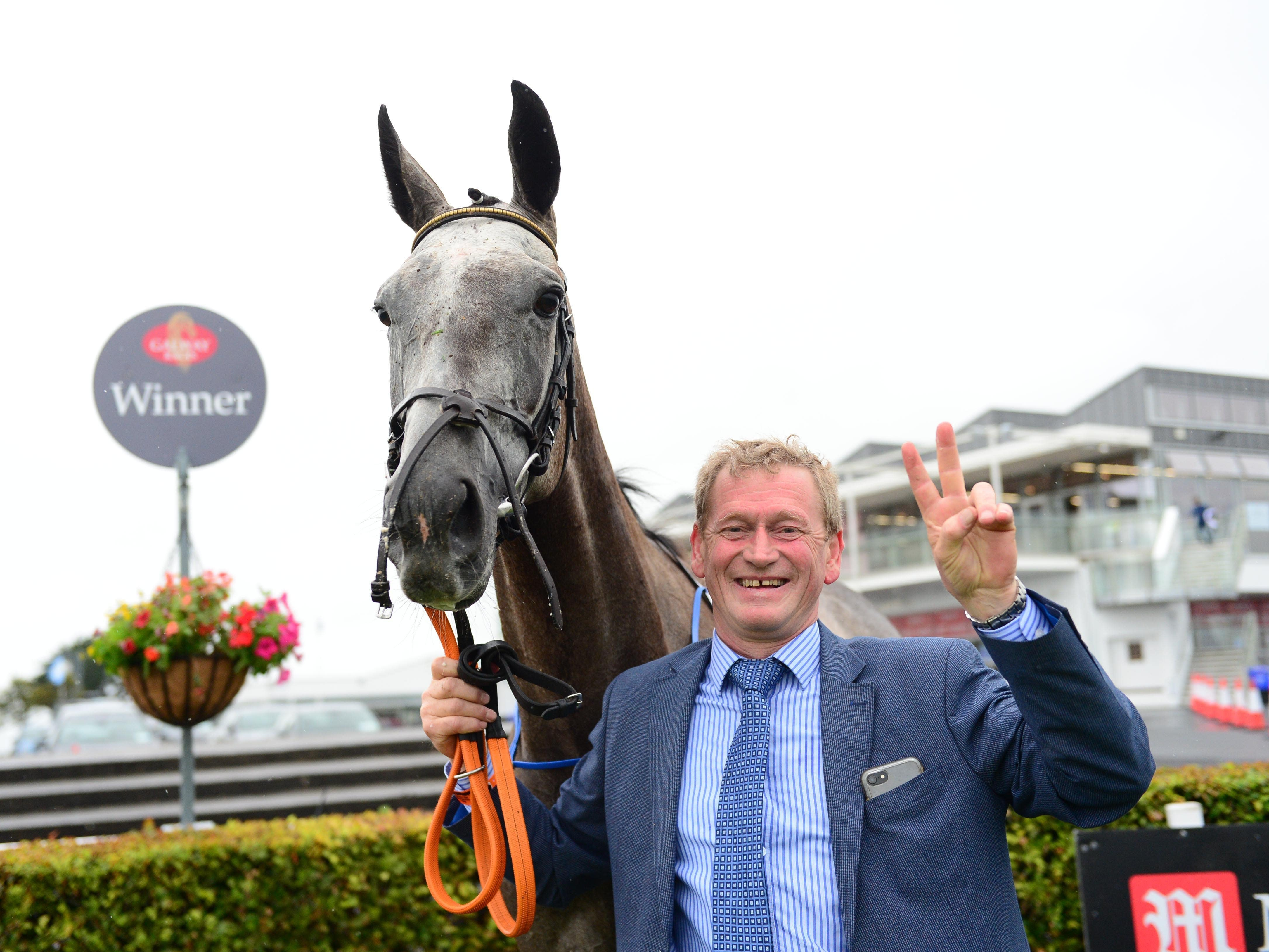 Trainer Tony Mullins with Princess Zoe at Galway (PA)