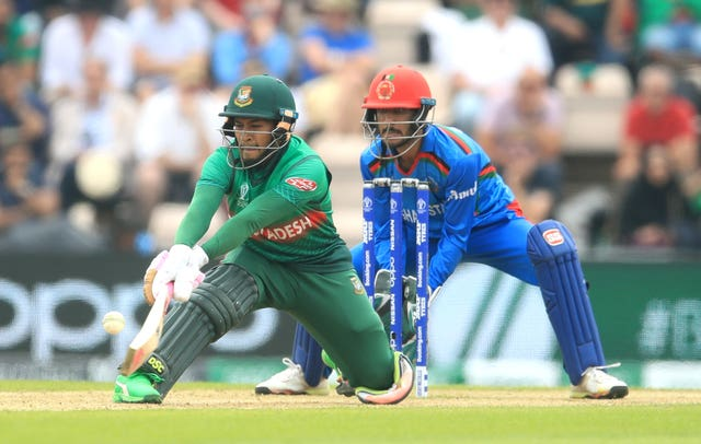 Mushfiqur Rahim, left, top-scored for Bangladesh (Adam Davy/PA)