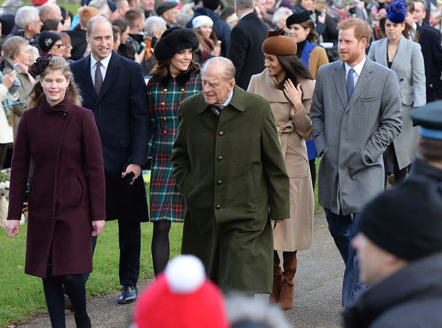 In past years the royal family have gathered at Sandringham and attended church on Christmas Day. Joe Giddens/PA Wire