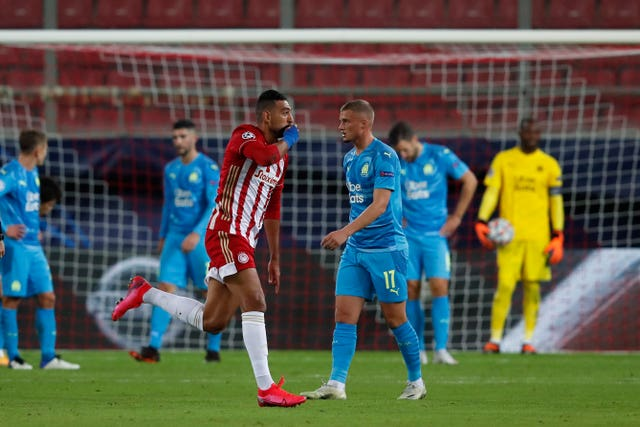 Marseille lost away to Olympiacos in their Champions League opener