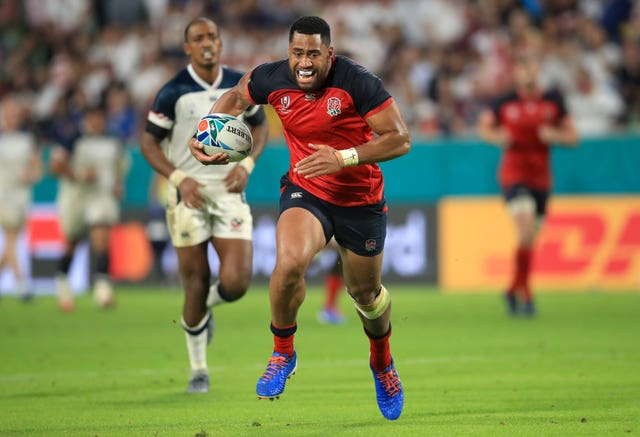 Joe Cokanasiga touched down twice for England against USA