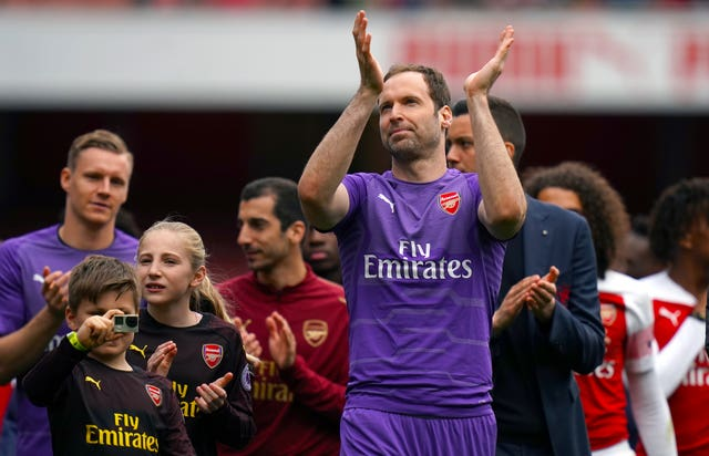Petr Cech played his final home game for Arsenal in the 1-1 draw with Brighton