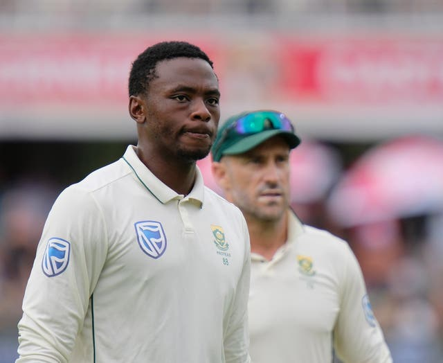South Africa will be without the banned Kagiso Rabada