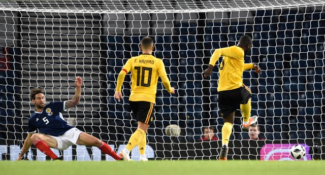 Romelu Lukaku opened the scoring for Belgium after a defensive mistake from John McGinn