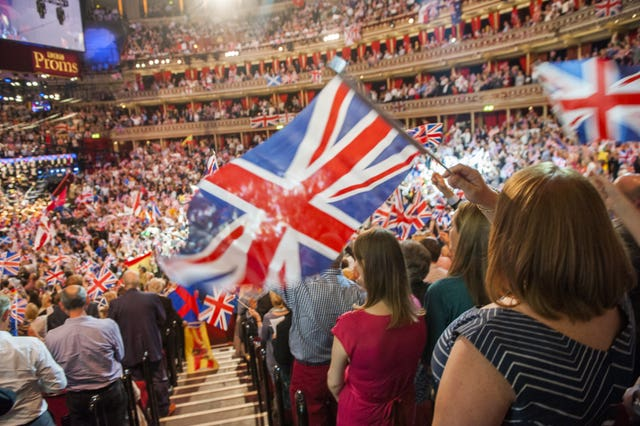 Members of the audience during the Last Night Of The Proms at the Royal Albert Hall, London (Guy Bell/PA)
