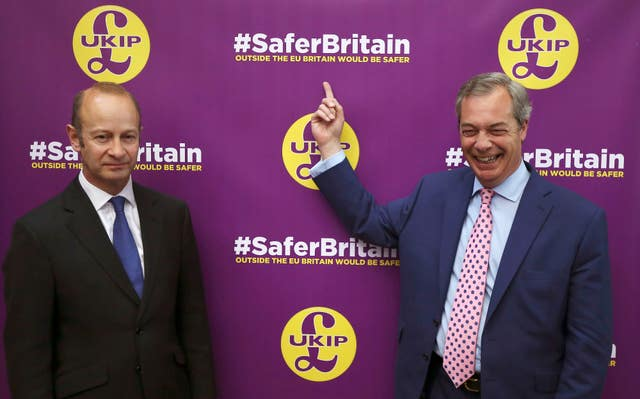 Nigel Farage has offered some support to Henry Bolton (Philip Toscano/PA)