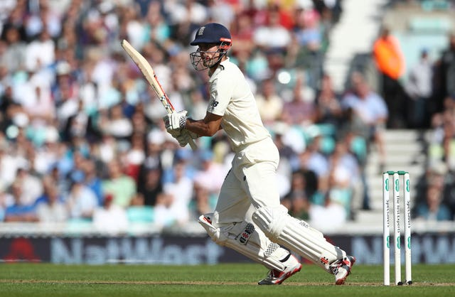 Cook was given an early chance to bat on his 161st and final Test