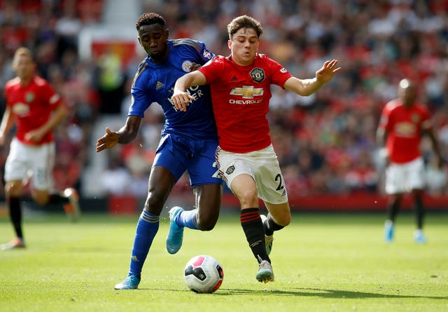 Daniel James, right, has made an impressive start to his Manchester United career